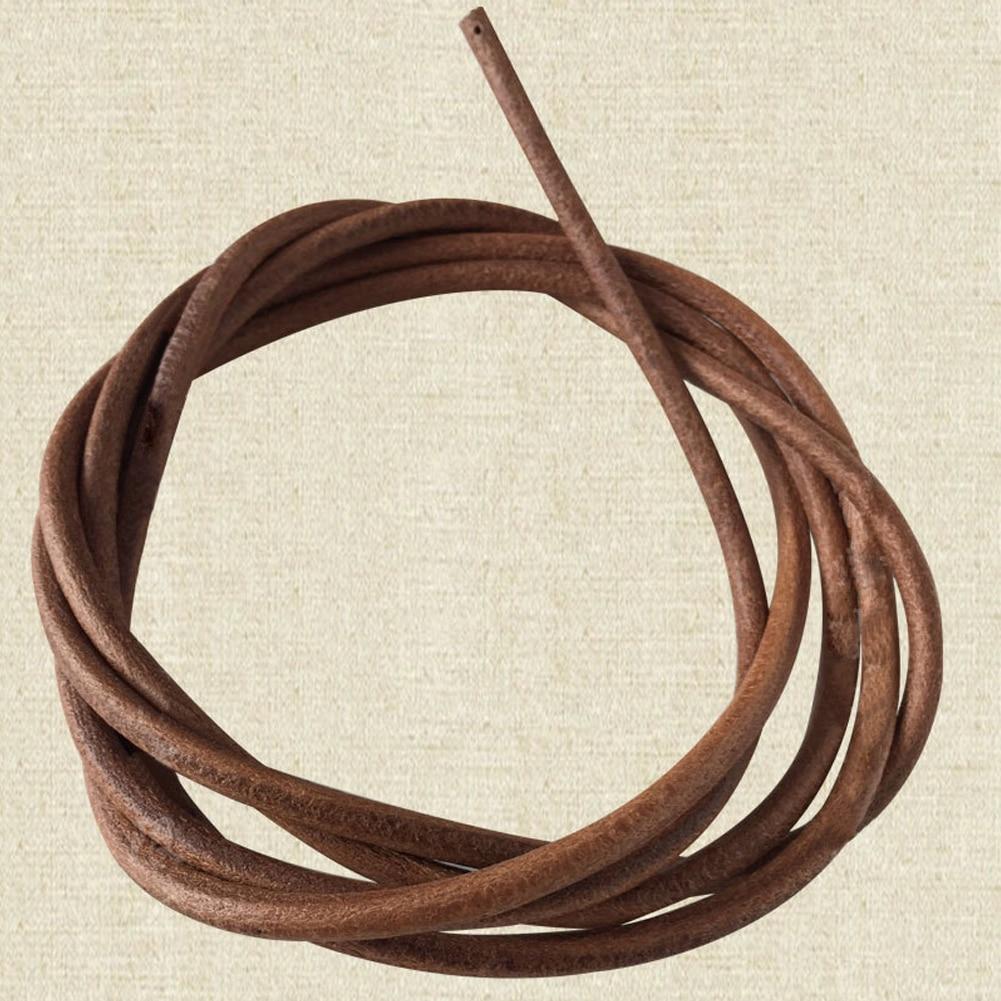 "72/"" 183cm Leather Belt Antique Treadle Parts Hook For Singer Sewing Machine ME"