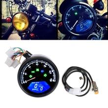 Cafe Racer Motorrad Instrument Digital Kilometerzähler Tachometer Tacho Öl Gauge Getriebe Display