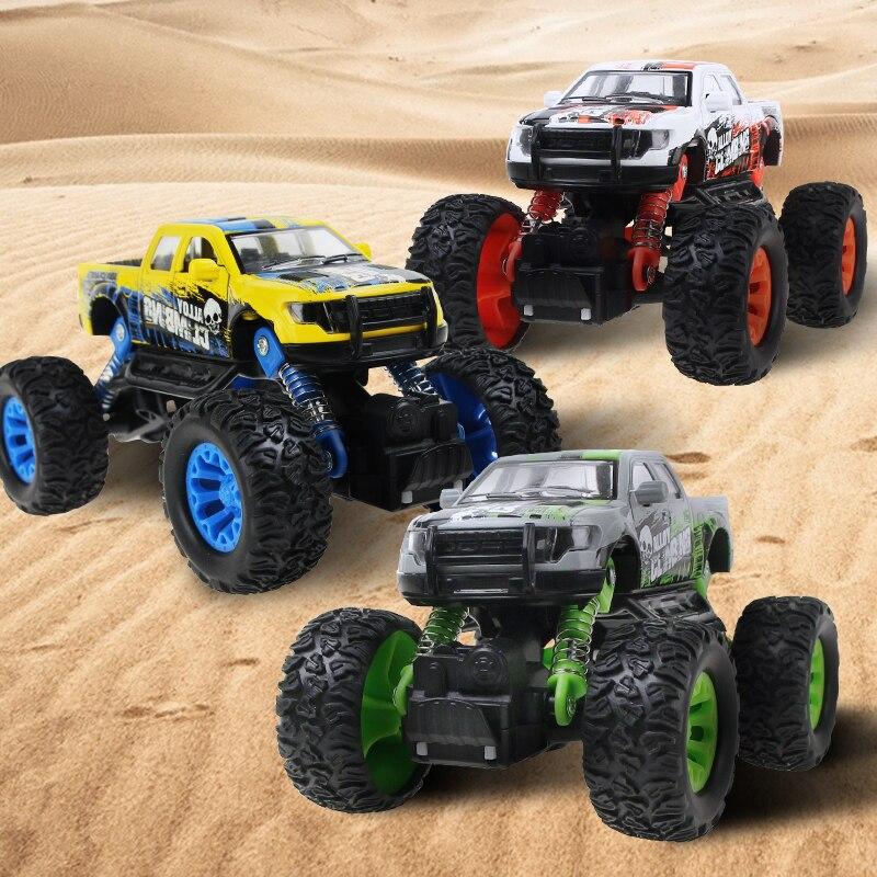 Hot Big 4x4 Wheel Metal Alloy Model Car Diecast SUV Car Off-Road Vehicle Pull Back Sliding Car Model Toys For Kids /