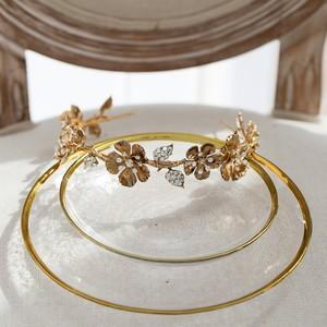 Image 5 - Винтажная Золотая Цветочная Женская Корона Свадебная фотосессия ручной работы