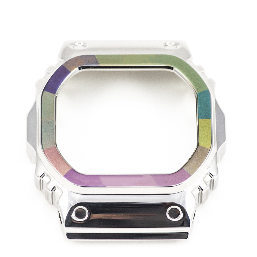 Rainbow Ring Watch Bezel For DW5600 GW-M5610 100% Metal 316L Stainless Steel Limited Edition Special Style