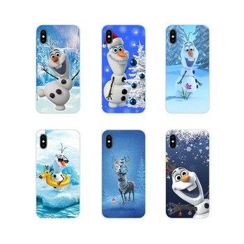 Para Samsung Galaxy J1 J2 J3 J4 J5 J6 J7 J8 Plus 2018 primer 2015 de 2016 de 2017, la Olaf, el muñeco de nieve accesorios de la cáscara del teléfono cubre