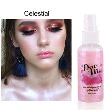 1PC Moisturizing Highlighter Spray Pearlescent Rose Water Priming and Setting Mist Makeup Cosmetic