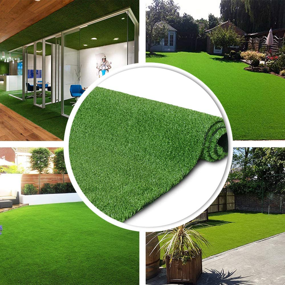 WHDZ 1M*1M/1M*2M Artificial Grass Turf Indoor Outdoor Rug Synthetic Fake Faux Grass Garden Lawn Landscape