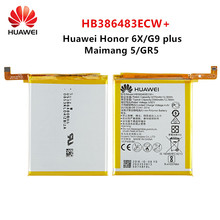 Hua Wei 100% Orginal HB386483ECW+ 3340mAh Battery For Huawei Maimang 5 Honor 6X G9 plus GR5 2017 MLA-AL00/AL10 Batteries недорого