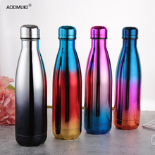 Electroplated Double-Wall Insulated Vacuum Flask Stainless Steel Water Bottle Cola Water Beer Thermos for Sport Bottle Outdoor правдина наталия борисовна я привлекаю деньги