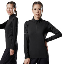 Shirt Tracksuit Training-Wear Collar Gym Fitness Quick-Dry Sports Women's Autumn Tight