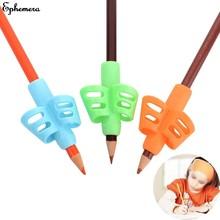 Lápis lidar com haste apertos caneta titular aperto para crianças bonito mão escrita ajuda treinador postura correção caneta dedo titular aleatório