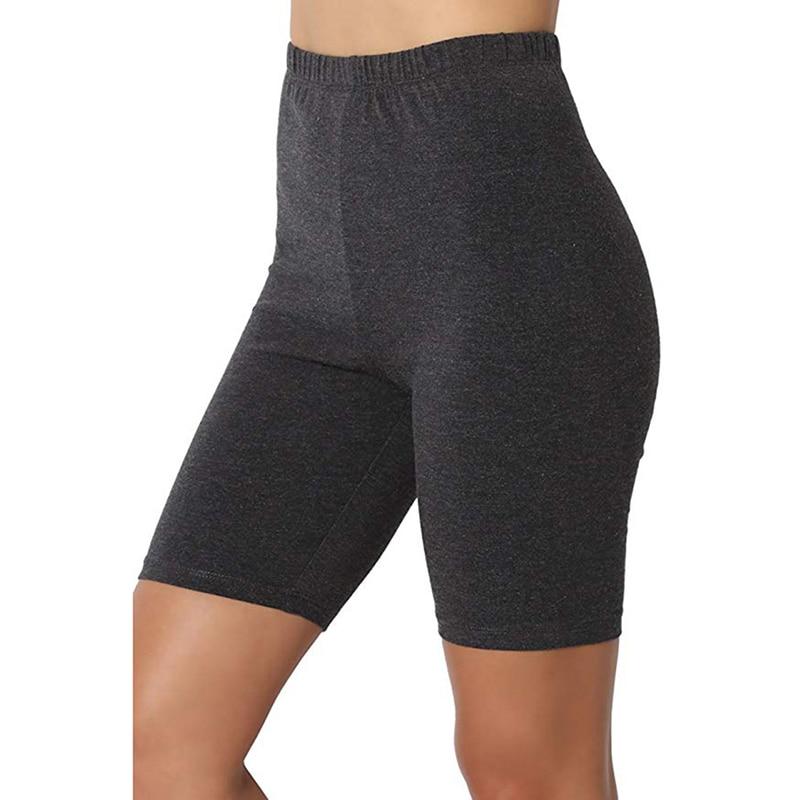 Fitness Leggings For Women 2020 Casual Summer Bottom Elastic Waist Slim Pants Knee-Length Trousers Plus Size Leggings