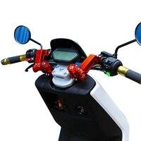Motocicleta CNC Ajustável 22mm Alça Removível Bar Sistema de Direcção Do Guiador Da Bicicleta Da Sujeira do Motocross Da Bicicleta Scooter|Guidão| |  -