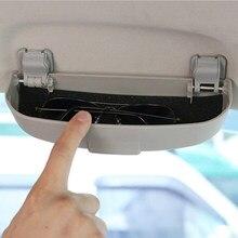 Carro abs óculos de sol titular caixa armazenamento caso para mitsubishi asx lancer 10 9 outlander pajero acessórios