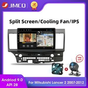 Jmcq android 9.0 t3l plus para mitsubishi lancer 2007-2012 rádio do carro multimidia jogador de vídeo navegação gps 2 + 32g 2din 2 din