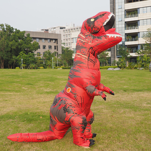 Image 3 - Men T REX Inflatable Dinosaur Costume Adult Anime Cospaly t rex Mascot Costume Adultos Halloween Dinosaur Costume for Kids Women