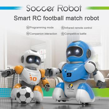 2pcs Soccer Robot Smart Remote Control Singing And Dancing USB Charging Simulation RC Intelligent Football Robots Toys In Stock
