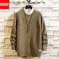 Winter Mode Oansatz Armee Schwarz Pullover Männer Japanischen Hip Hop Fitness Streetwear Pullover Solide Farbe Gestrickte Pullover Männlichen NEUE