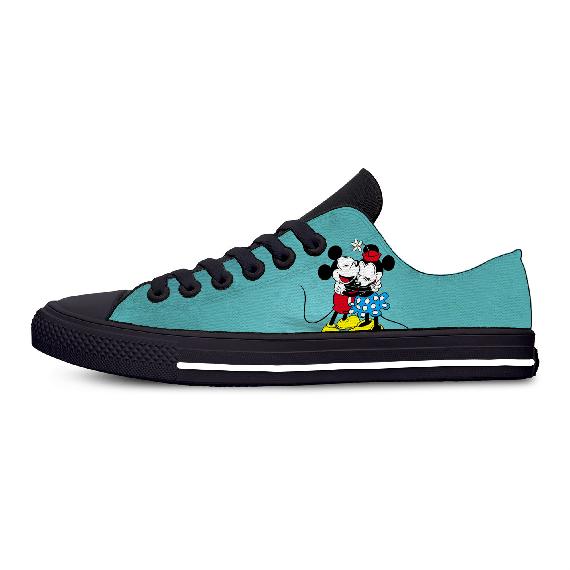 Cartoon Mouse Hot Mickey Minnie Funny Fashion Casual Canvas Shoes Low Top Lightweight Breathable 3D Printed Men Women Sneakers