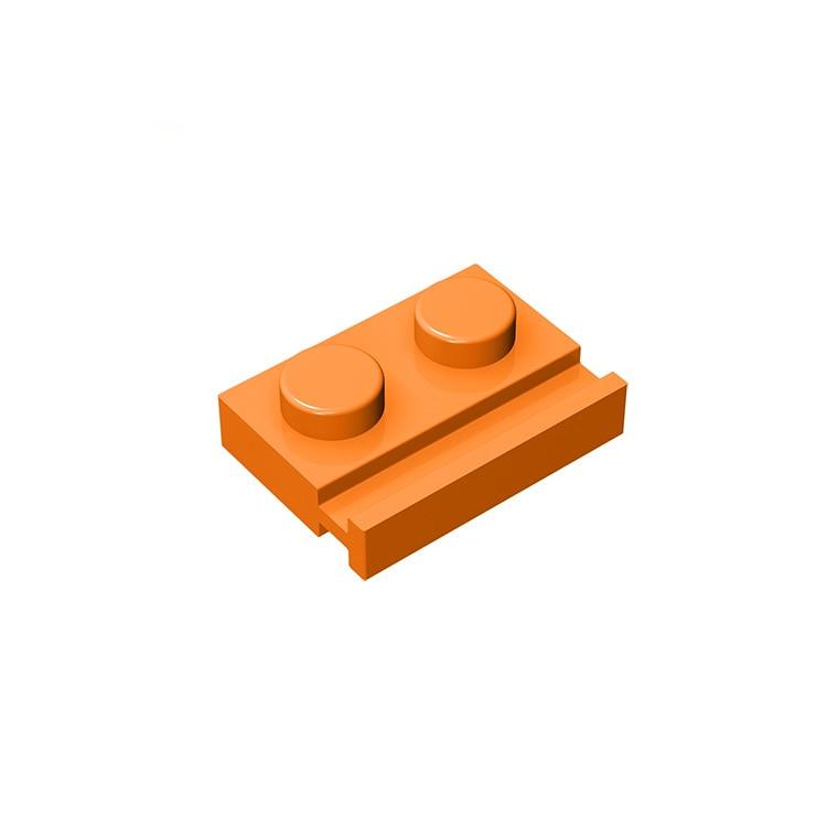 20pcs/50pcs Building Blocks Parts Bulk Assembles Particles 32028 1x2 With Groove Technic Parts DIY Creative Kids Toys