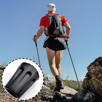 1pc Trekking Pole Tip Cover Rubber Anti-slip Feet For Hiking Go Stick Walking Protectors Poles Cover U1V0 image