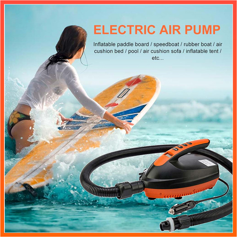 12V Digital Electric Air Pump 20PSI for Inflatable SUP Paddle Board Airbed Kayak