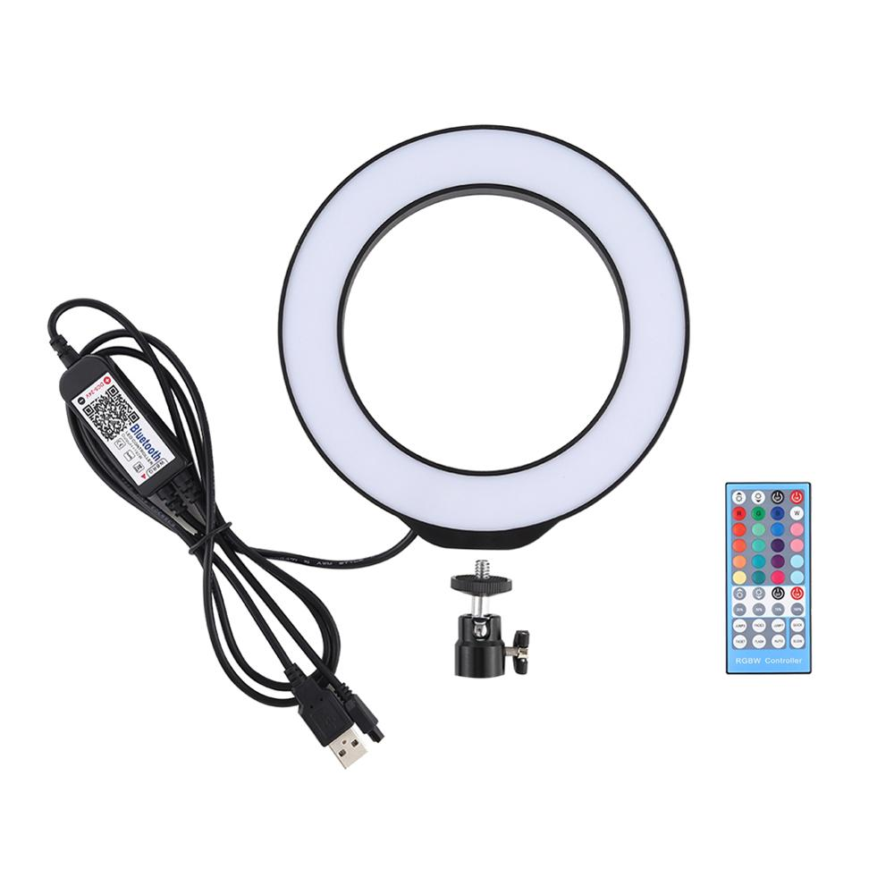 6.2 inch <font><b>16</b></font> cm USB RGBW dimmable LED <font><b>ring</b></font> Vlogging photography video <font><b>light</b></font> advertising photography remote control feature image