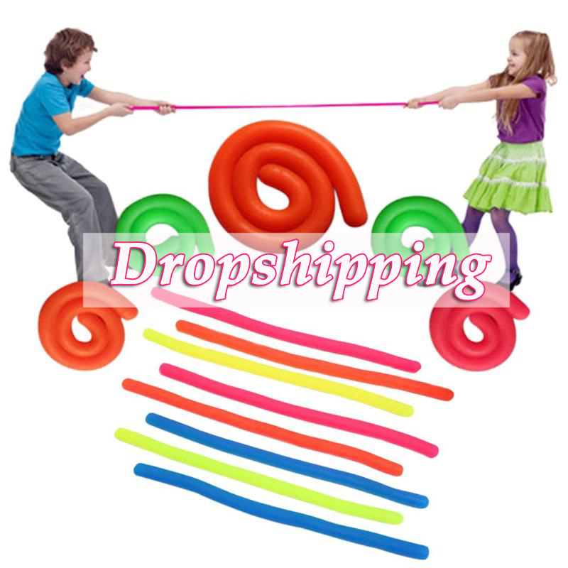 Elastic TPR Straight Pull Rope Stretchable String Toy For Vent Relieve Toys Decompression Toy Antistress Toys For Random Color