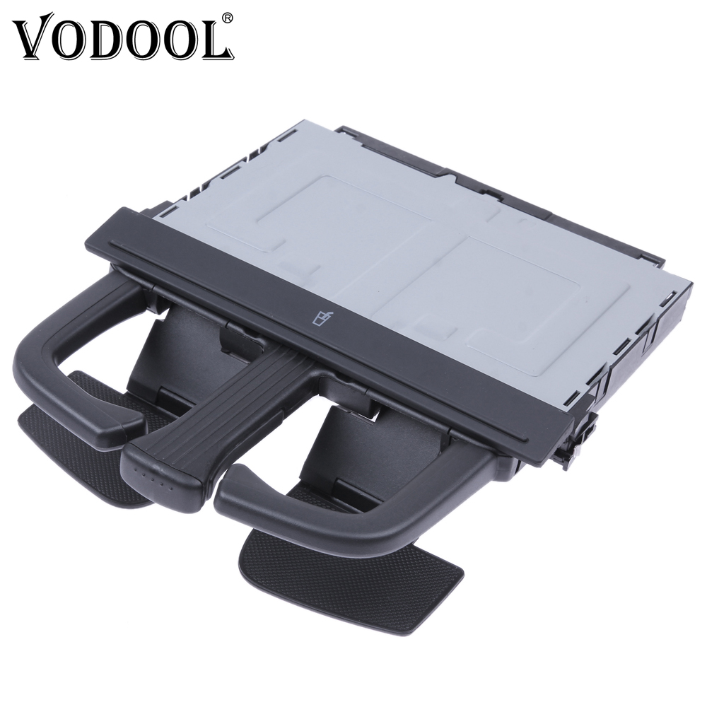 VODOOL Car Dashboard Radio Cup Holder Beverage Can Drink Bottle Storage Stand Bracket For VW Golf 4 Bora Audi A4L A5 Q5 A7 Q7