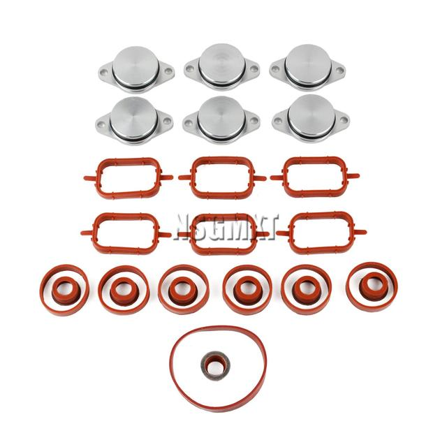 AP03 nowe uszczelki kolektora i klapy wirowe zestaw 6*32MM dla BMW 330d 335d 530d X3 X5 E70 X6 3.0d,sd