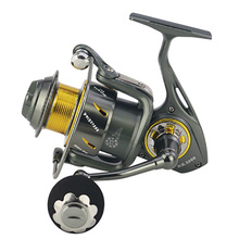 Hemer Fishing Reel Saltwater Freshwater 5.3:1 Metal Spinning Seat 5000-9000 Ocean Boat Stream Handle
