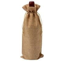 12 шт прочные мешки для вина из нетканого полотна, льняная красная бутылка для вина, стеклянная сумка, сумка для путешествий, подарочная упак...