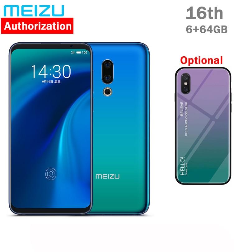 "Original Meizu 16th 16 4G Snapdragon 845 Octa Core 8GB RAM 128GB ROM 6.0"" FHD 2160x1080P Full Screen Dual Rear Camera"