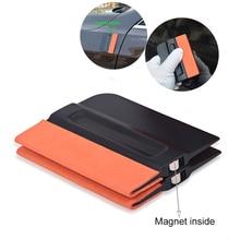 Foshio 2/3/5/10Pcs Magnetische Bondo Tint Zuigmond Geen Kras Suede Wrap Schraper Window Film vinyl Wrapping Tool Auto Accessoires