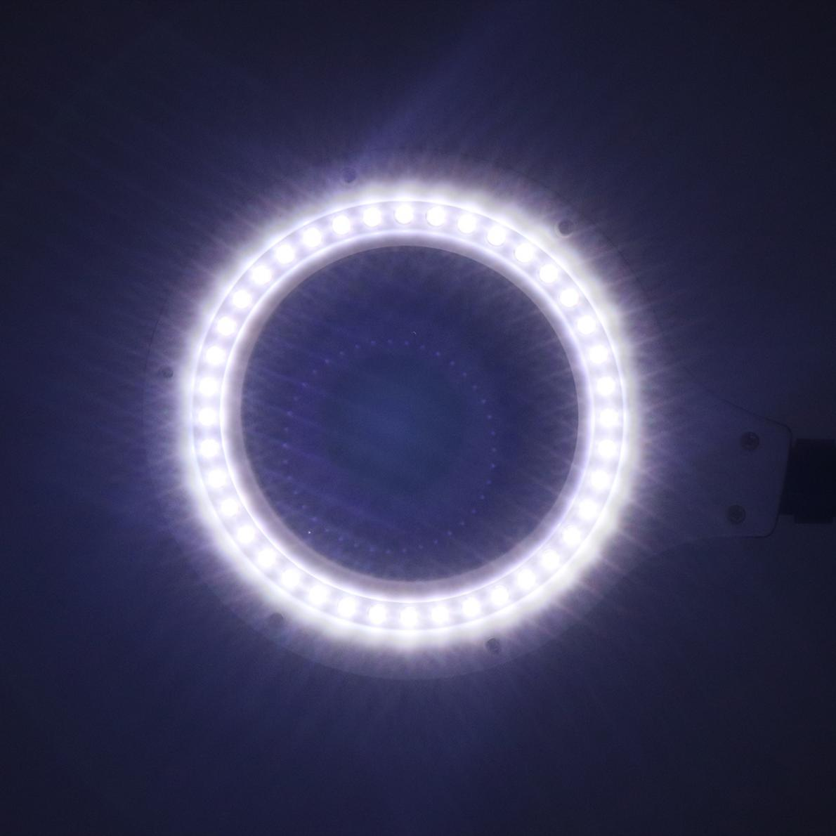 110V 220V 18W Magnifying Light Brightness Desk Lamp with 5X 10X and 40 LED Lighting for Reading Table Lights in Desk Lamps from Lights Lighting