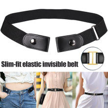 Hot Buckle Free Stretchable Lazy Belt Elastic Waist Invisible for Jeans Pant Dress K2