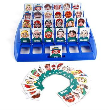Classical Logical Reasoning Desktop Game WHO IS IT Toys Funny Parent-child Desktop Family Interactive Guessing Games juior blokus classic kids board game baby desktop funny strategy game family parent child interactive educational fun toys
