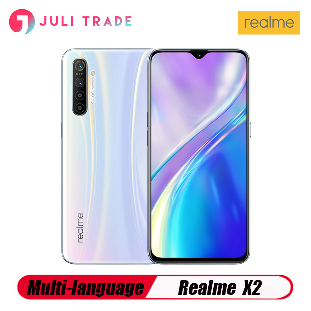 Original Oppo Realme X2 Mobile Phone Snapdragon730G 6.4 inch Super AMOLED Screen 6GB 64GB Camera 64.0MP Four Shot NFC Smartphone