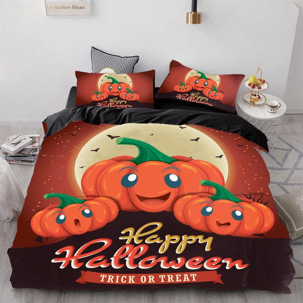 Halloween Bedding King/Queen,3D Cartoon Bedding Set For Kids/baby/children Duvet Cover Set,Quilt/Blanket Cover Set Pumpkin