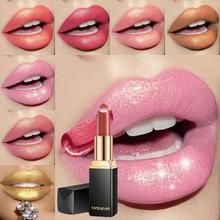 2019 New 9 Colors Luxury Lipstick Lips Makeup Waterproof Shimmer Long Lasting Pigment Nude Pink Mermaid Lipsticks