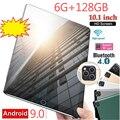Планшет с 10,1-дюймовым дисплеем, десятиядерным процессором, ОЗУ 6 ГБ, ПЗУ 10,1 ГБ, 2-мя слотами для SIM-карт, Android 9,0