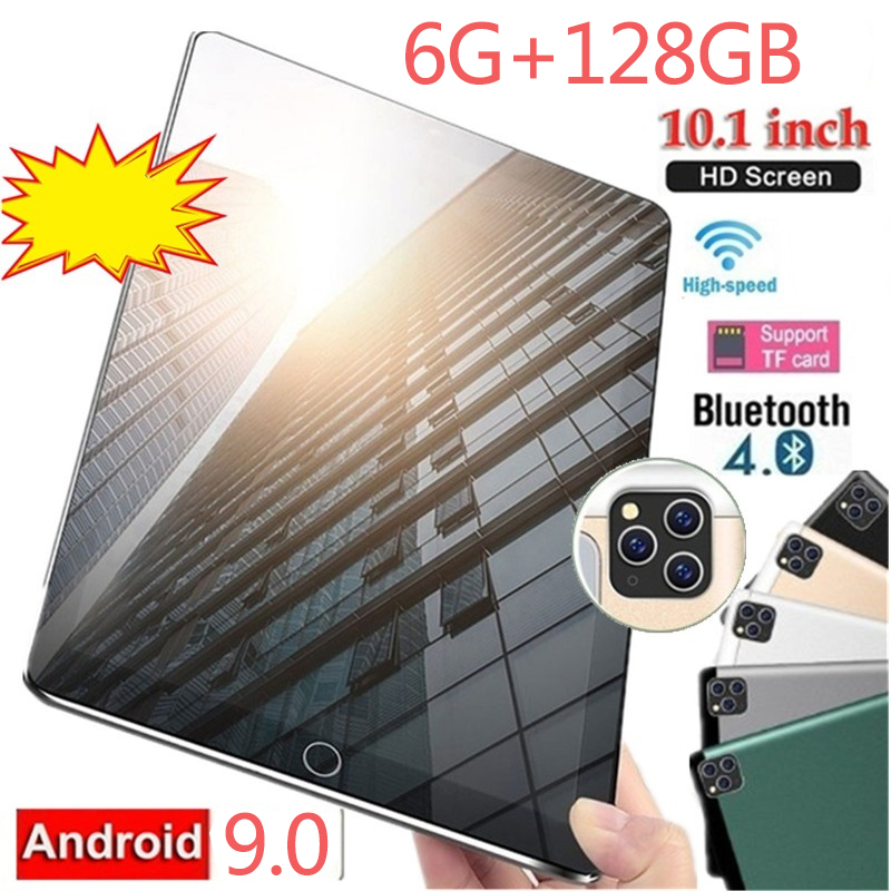 10.1 Polegada tablet novo android 9.0 bluetooth 4g rede tbalet dez núcleo 6 gb + 128 gb wifi tablet pc duplo cartão sim crianças tablet pc