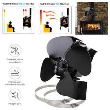 Heat Powered Stove Fan Energy Saving Silent Operation Fireplace Fan for Efficient Heat Distribution