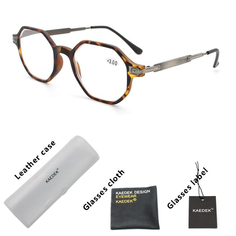 KAEDEK Reading Glasses Men Women Presbyopic Unisex Eyeglasses Fashion Wood Grain Glasses With Diopter Oculos +1 1.5 2 2.5 3 +3.5