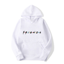 Spring and Autumn Hooded FRIENDS Letter Print Top Soft Casual Sports Street Hip Hop Funny Men Women Sweatshirt