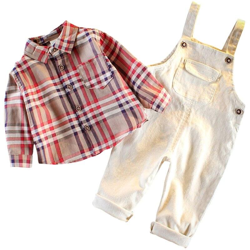 Костюм с поясом и брюками для мальчиков 2019 г. Новое осеннее платье для малышей в западном стиле модный красивый костюм из двух предметов для маленьких мальчиков детские комплекты