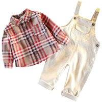 Boy's Belt Trousers Suit 2019 New Autumn Westernized Baby Dress Fashionable Handsome Baby Male Two piece Suit Children's Sets