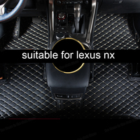 lsrtw2017 leather car floor mats for lexus nx nx200t nx300h nx300 nx200 2015 2016 2017 2018 2019 2020 accessories carpet styling