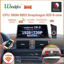 Snapdragon 1920*720P Android 10 radio del coche para BMW serie 1 120i E87 E81 E82 E88 auto audio estéreo receptor de navegación no 2 din