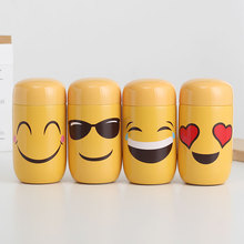 200ml mini expression stainless steel mug creative trend girl portable water cup cute super 4 different expressions