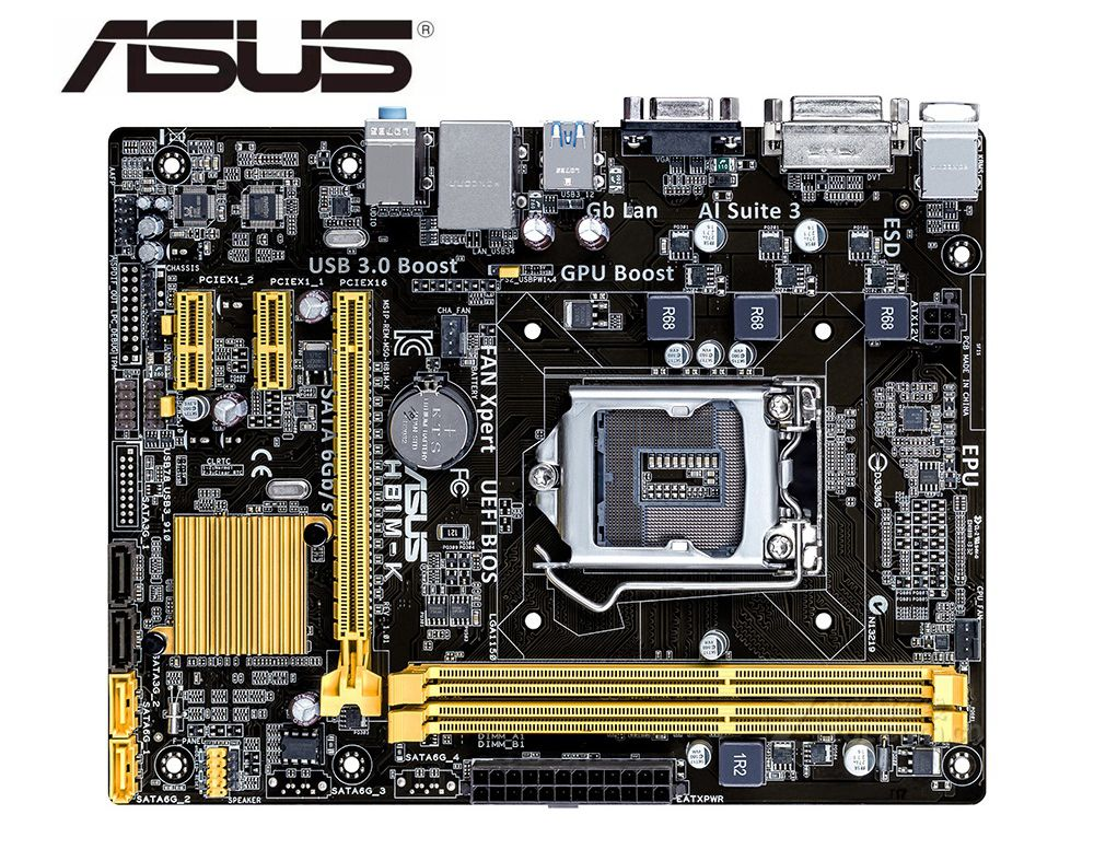 ASUS H81M-K Motherboard For Intel DDR3 LGA 1150 For I3 I5 I7 CPU USB2.0 USB3.0 16GB H81used  Desktop Motherborad