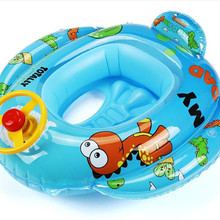 Kids Baby Swimming Ring with Steering Wheel Thick Cute Round