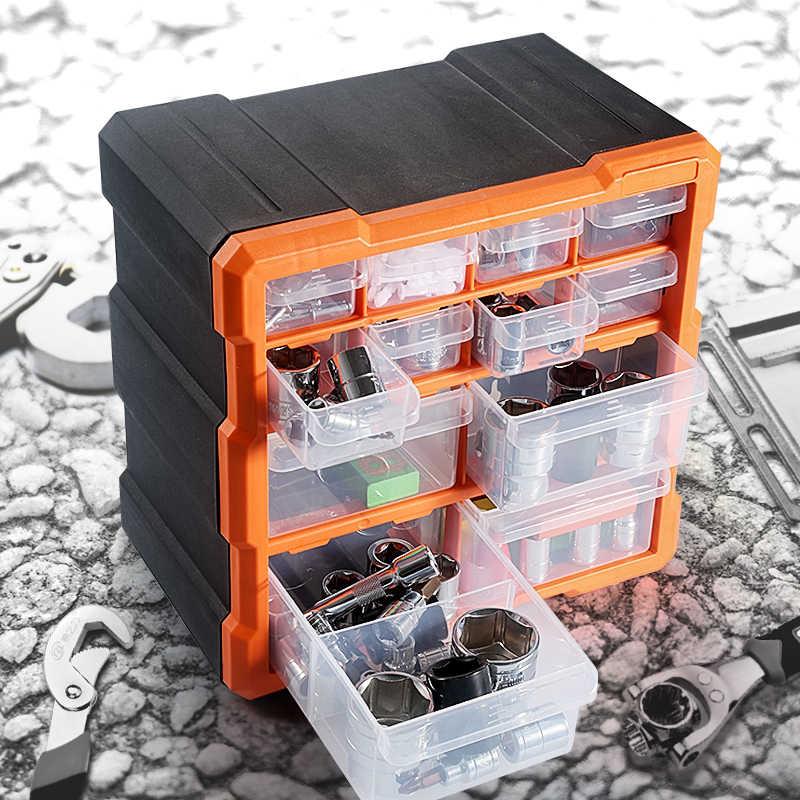 ABS プラスチックポータブル部品ボックススクリュー収納ボックス金属部品ハードウェアツールドライバー自動車修理ツールボックス
